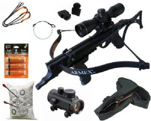 Armex Crossbows 80lb Tron Self Cocking Pistol Deluxe Crossbow Package from Armex Crossbows
